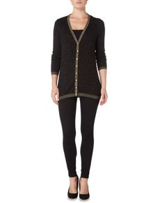Biba Longline button detail cardigan