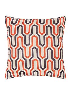 Geometric cushion, rust