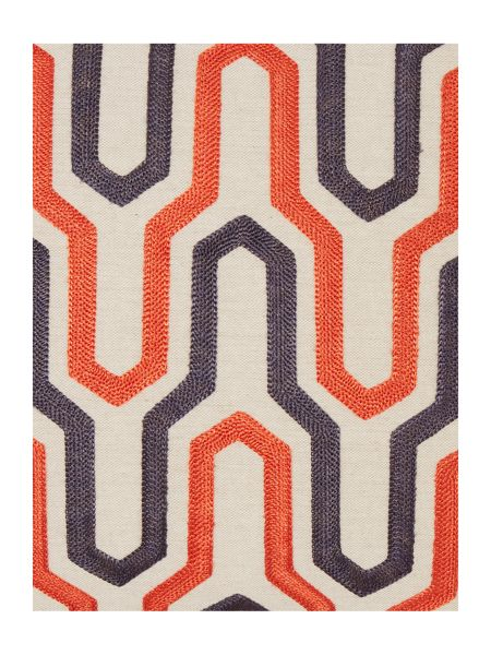 Living by Christiane Lemieux Geometric cushion, rust