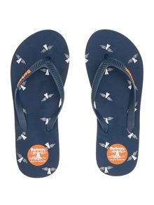 Barbour Beacon logo flip flop