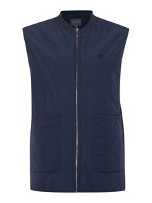 Perry Ellis America Zip Through Logo Gilet