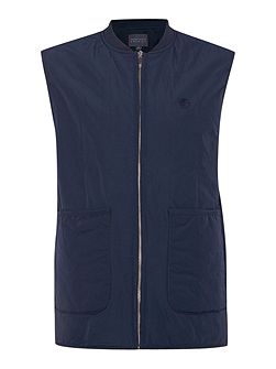 Zip Through Logo Gilet
