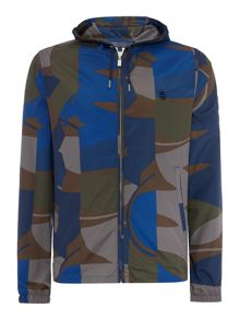 Perry Ellis America Camo Print Hooded Rain Jacket