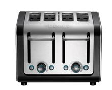 Dualit 4 slot Architect toaster Brushed SS Black