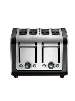 4 slot Architect toaster Brushed SS Black