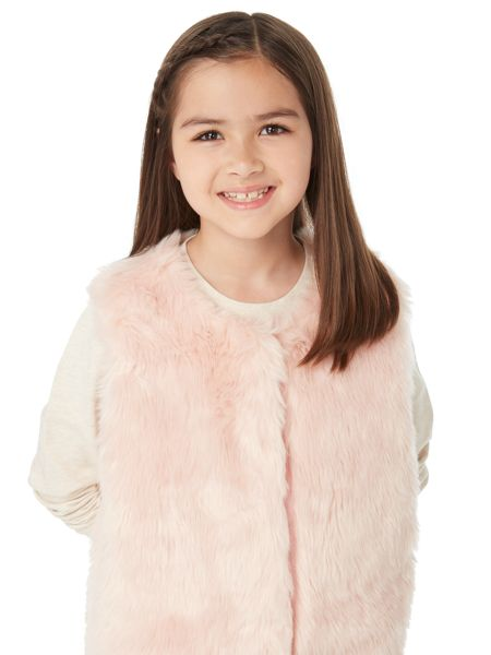 Little Dickins & Jones Girls Ombre Fur Gilet
