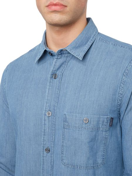 Perry Ellis America Chambray Long Sleeve Shirt
