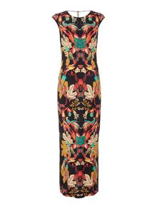 Biba Printed jersey maxi dress