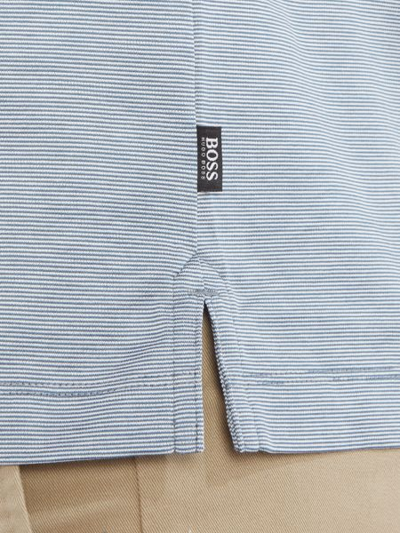 Hugo Boss Penrose slim fit fine stripe mercerised polo