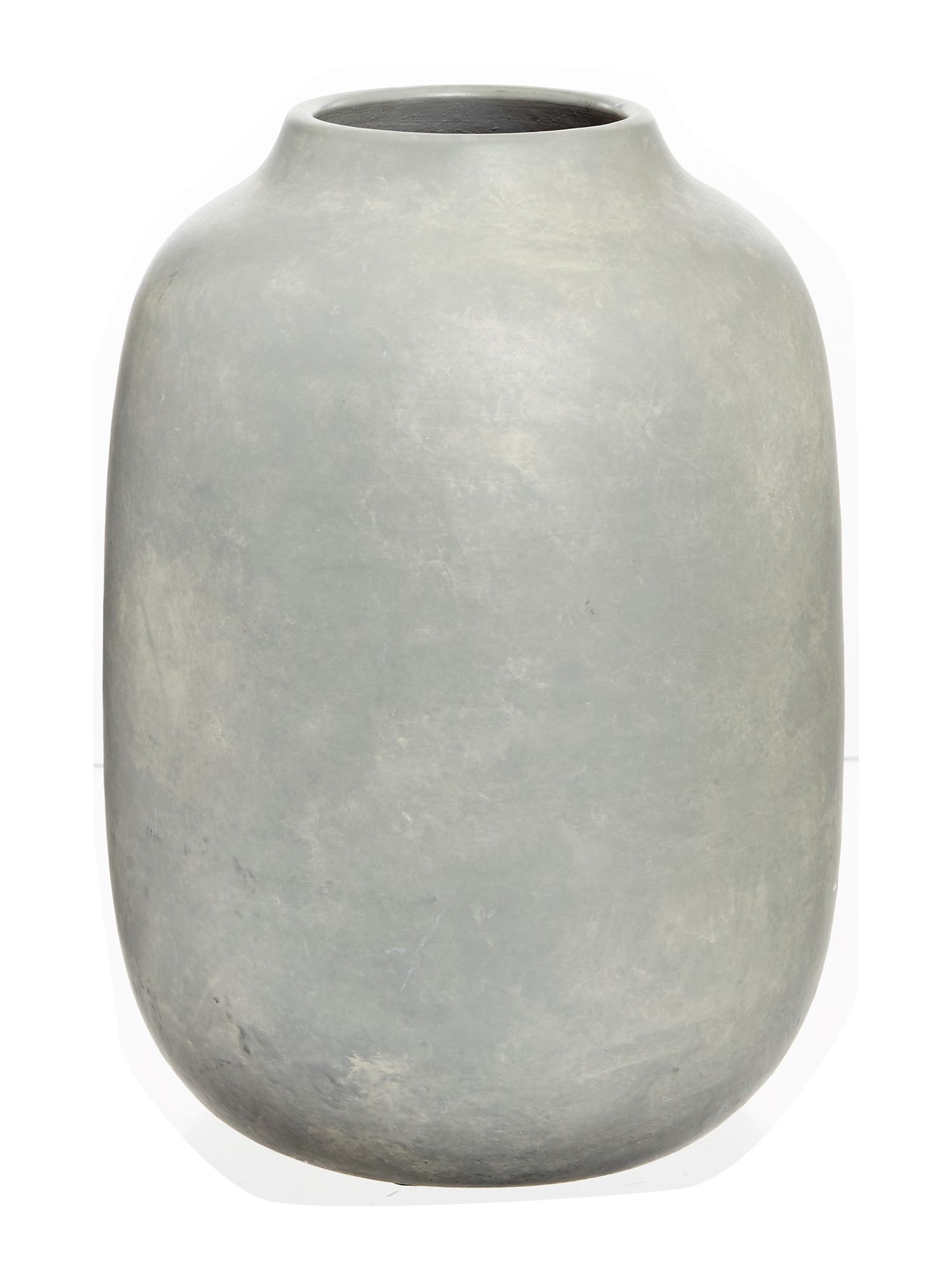 Image of Gray & Willow Berau large grey vase