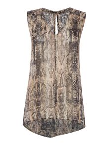 Label Lab Snake print asymmetric top
