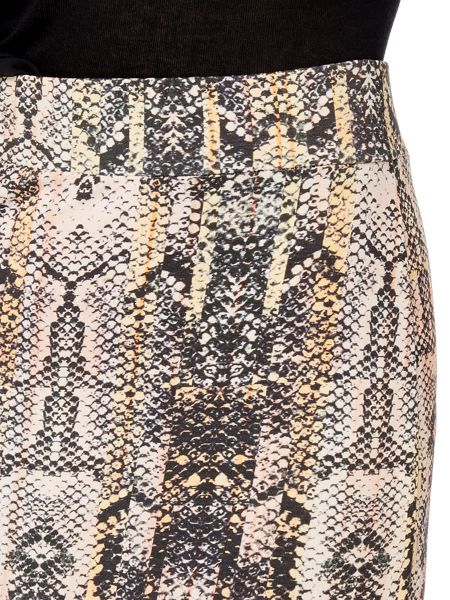 Label Lab Snake print jersey skirt