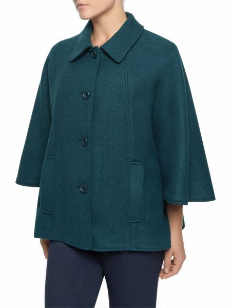 Eastex Dark Teal Check Cape