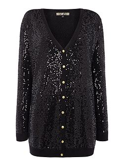 Fully sequin button up cardigan