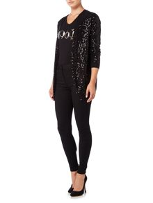 Biba Fully sequin button up cardigan