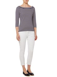 Dickins & Jones Stripe Bardot Top
