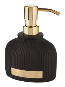 Biba Boudoir black and gold soap dispenser