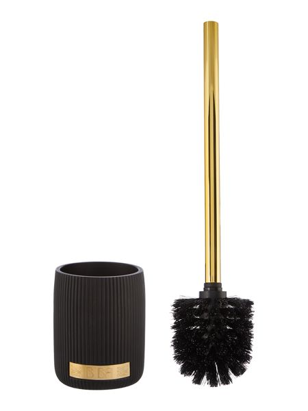 Biba Boudoir black and gold toilet brush