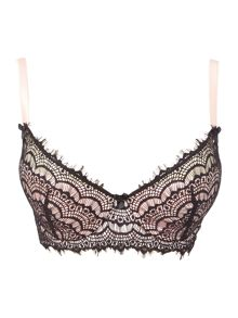 Mimi Holliday Bisou bisou padded lace plunge bra