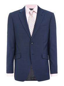 Howick Tailored Dalton SB2 notch lapel micro check suit jacket