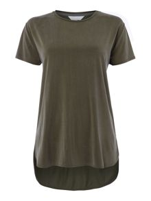 Gray & Willow Sofie side split curve hem top