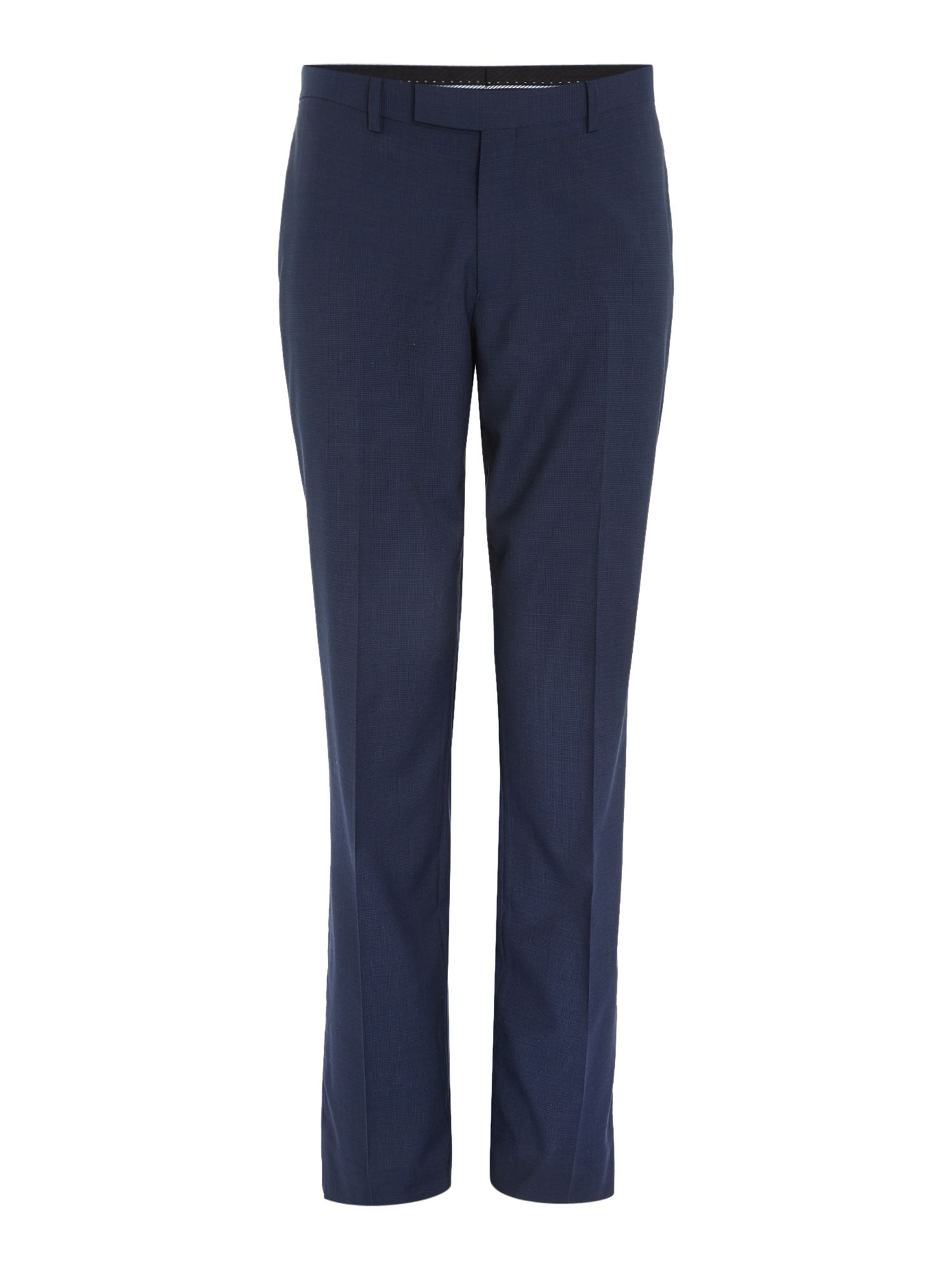 Howick Tailored Men's Howick Tailored Dalton micro check suit trousers, Blue