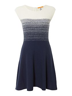 Inabelle cap sleeve fitted knitted dress