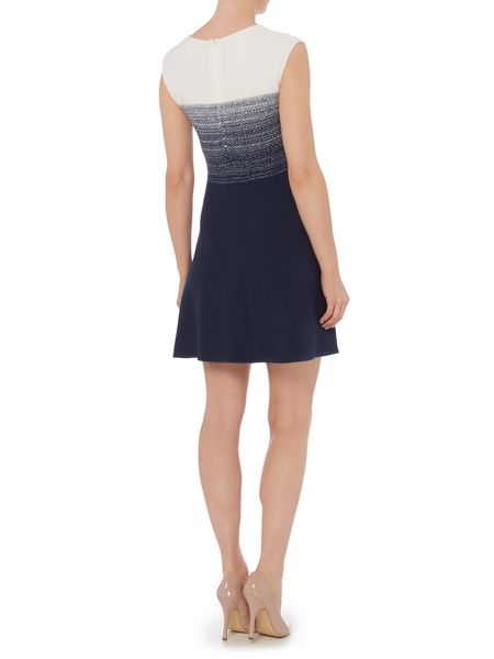 Hugo Boss Inabelle cap sleeve fitted knitted dress