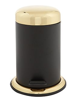 Boudoir black and gold waste bin