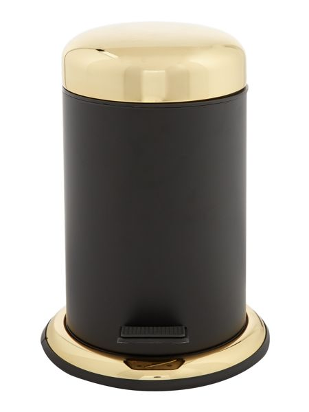 Biba Boudoir black and gold waste bin