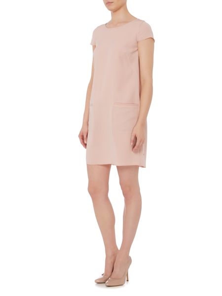 Hugo Boss Acuty short sleeve shift dress with pockets