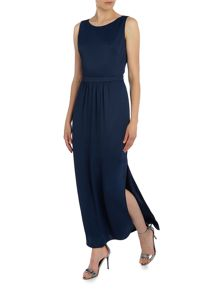 Hugo Boss Abellara sleeveless cut out back midi dress