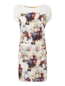 Hugo Boss Dimarion contract print t shirt dress
