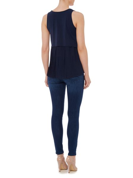 Hugo Boss Top sleeveless top with pleated hem