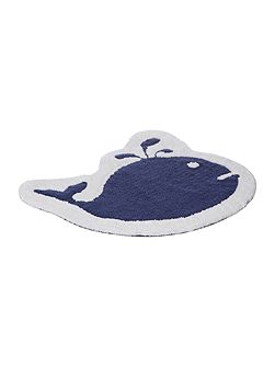 Happy whale bath mat