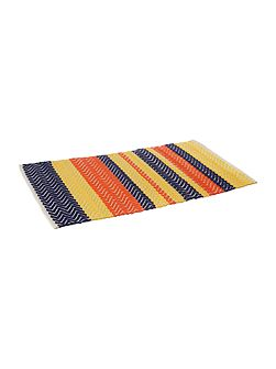 Bright chevron bath mat