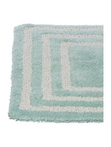 Linea Framed glasgow bath mat duck egg