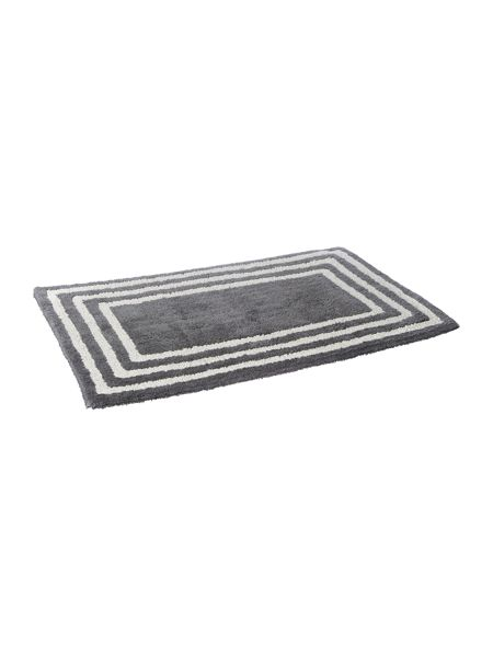 Linea Framed glasgow bath mat grey