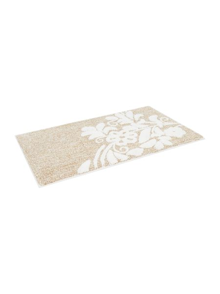 Linea Placed bouquet bath mat natural