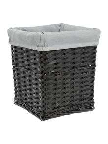 Linea Black wood waste bin