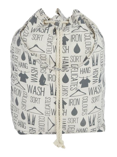 Linea Wording laundry bag