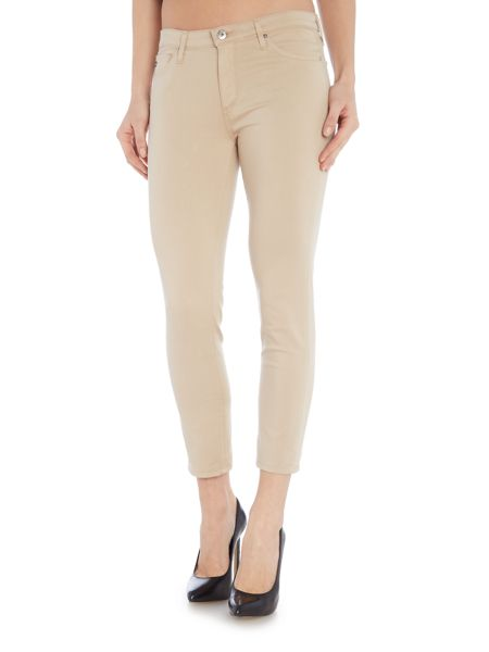AG Jeans The Sateen prima Crop skinny jean in sesame