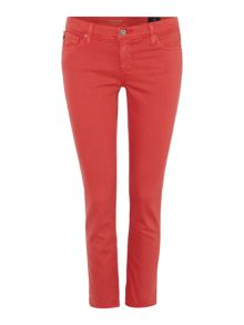 AG Jeans Stilt crop jean in hi white dahlia
