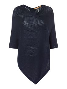 Hugo Boss Wineanda chunky knitted poncho