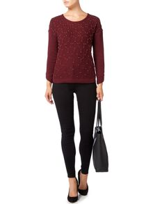 Biba Beaded hexagon textured jumper