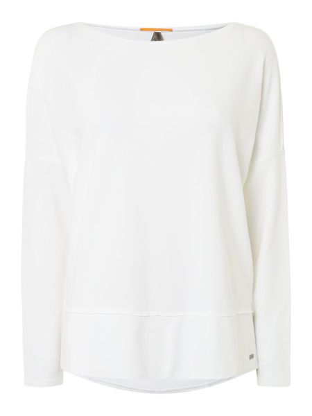 Hugo Boss Tersweat oversized hem detail jumper