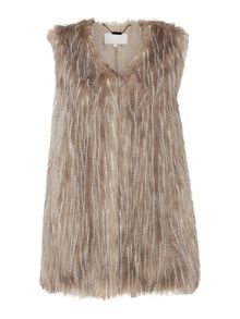 Gray & Willow Falen Faux Fur Gilet