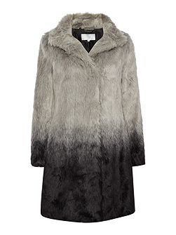 Dorta dip dye full length fur coat
