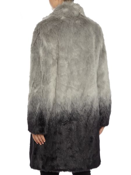 Gray & Willow Dorta dip dye full length fur coat