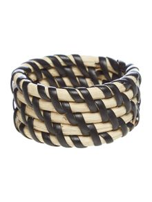 Linea Rattan Napkin Rings Set Of 4